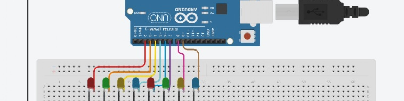 Learn how to control multiple LED by Arduino code