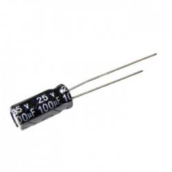 100uF 25V Aluminium Electrolytic Capacitor