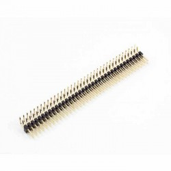 Berg Strip L Type Male Double Line (Right Angle) 2x40