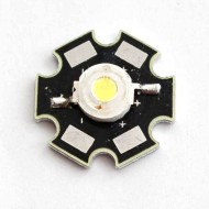 1 Watt (White) LED with Heat Sink