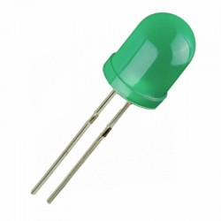 10mm Green Round Top LED