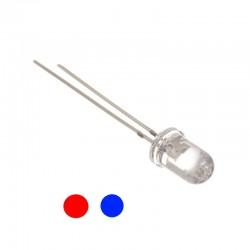 2 Pin 5mm Bi-Color Red Blue Changing Flashing LED