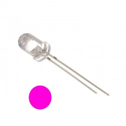 5mm Water Clear Pink LED
