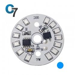 7 Watt DOB SMD LED with Heatsink-Blue LED