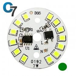 7 Watt DOB SMD LED with Heatsink-Green LED