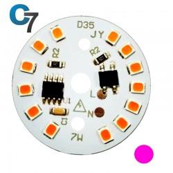 7 Watt DOB SMD LED with Heatsink-Pink LED