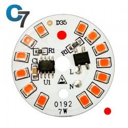 7 Watt DOB SMD LED with Heatsink-Red LED