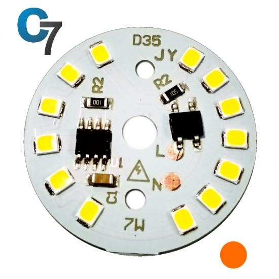 7 Watt DOB SMD LED with Heatsink-Warm White LED