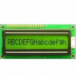 16x1 Character LCD Display (Yellow Green)