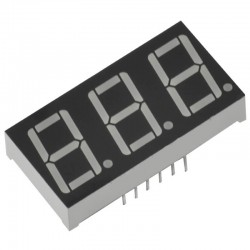 3 Digit Seven Segment Display Common Anode (Red)-0.36 Inch