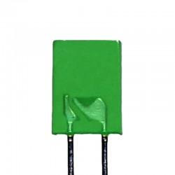 2x5x7 mm Rectangle Green LED (Short Leg)