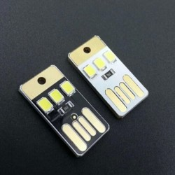 Mobile Power Supply USB Lamp LED Bulb Keychain Pocket Card LED Light