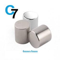 4mm x 4mm Disc Rare Earth Neodymium Strong Magnet N52