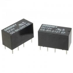 12 Volt 2 Amp PCB Mount DPDT Relay