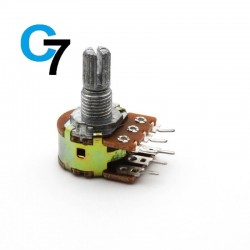 10K Rotary Dual Gang Potentiometer