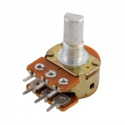 100K Rotary Dual Gang Potentiometer-D shaft