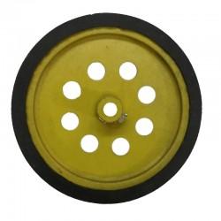 Wheel - Dia-9 cm,Width-12mm,Hole-6mm